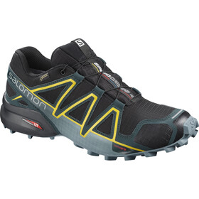 Salomon Speedcross 4 GTX Shoes Herre black reflecting pond spectra yellow